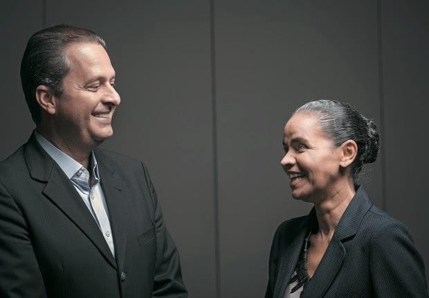 Eduardo Campos e Marina Silva