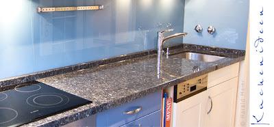 Küchenarbeitplatte aus Granit Blue Pearl - ein besonders schöner Granit und dabei pflegeleicht und widerstandsfähig