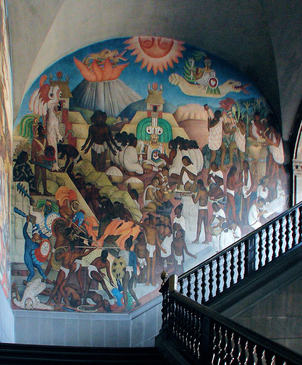 Muralismo mexicano octubre 2012 for Diego rivera mural palacio nacional