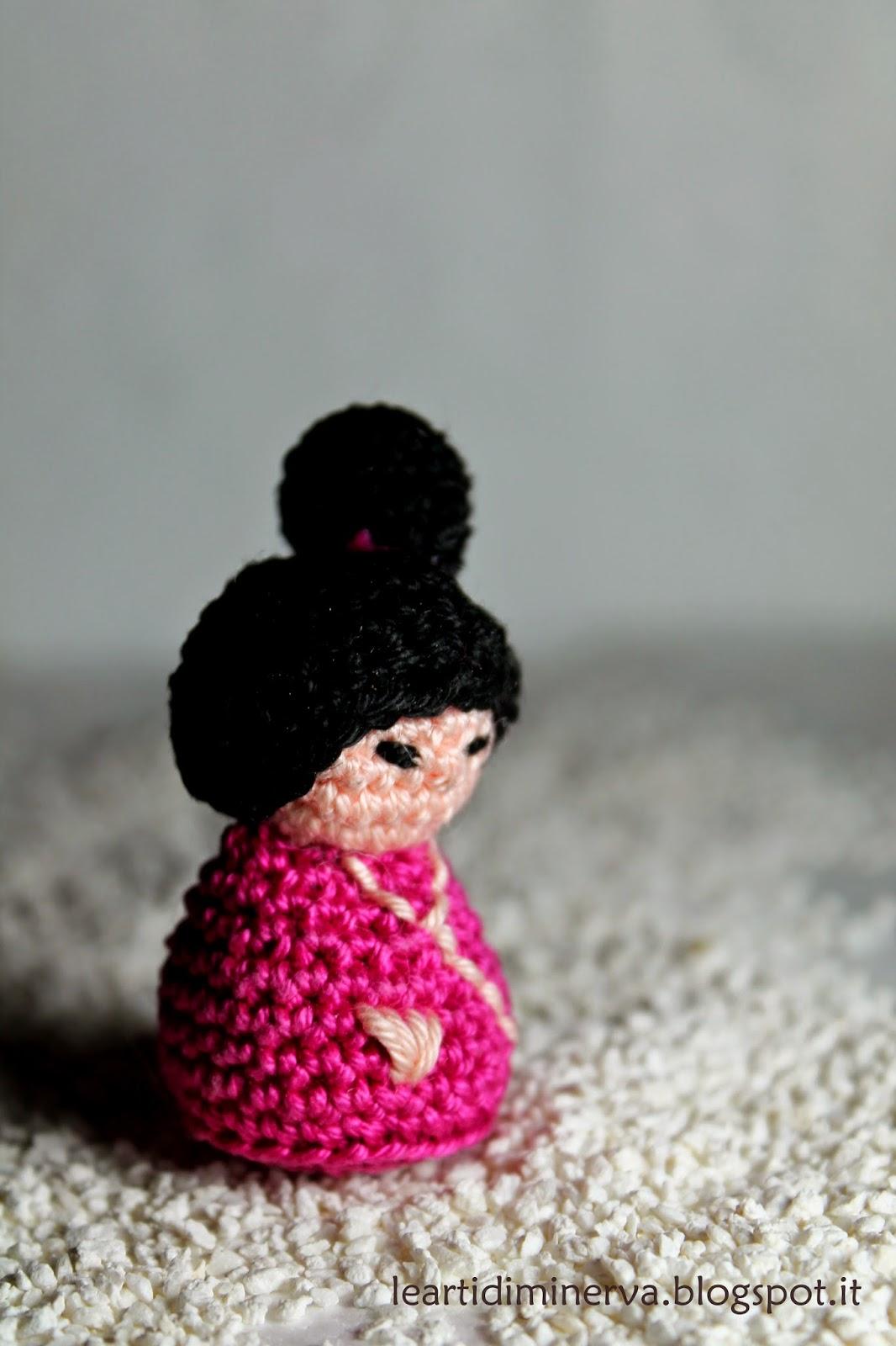 MaryJ Handmade: Kokeshi Amigurumi Free Pattern