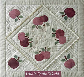 Quilted tablecloth with Apples