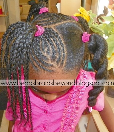 She Ended Up Having 6 Sections Of Free Style Cornrows Gathered Into Ponytails Also Had 2 That Were Not A Ponytail