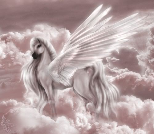 Pictures Of Unicorns With Wings Reflection Images