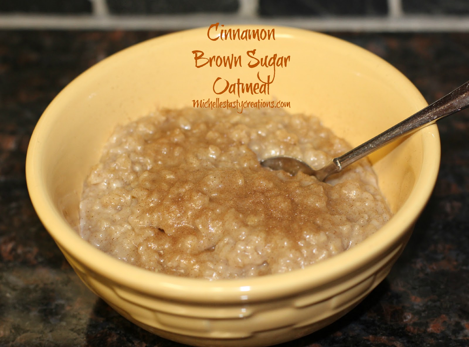 Michelles tasty creations cinnamon brown sugar oatmeal heres what you need 2 cups water fandeluxe PDF