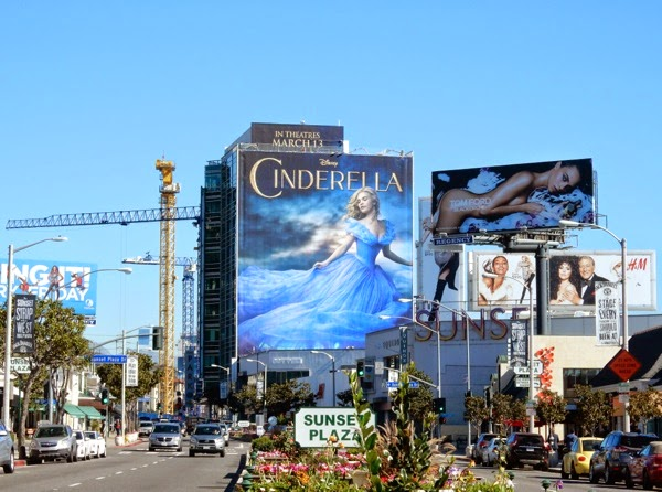 Disney Cinderella movie billboard Sunset Strip