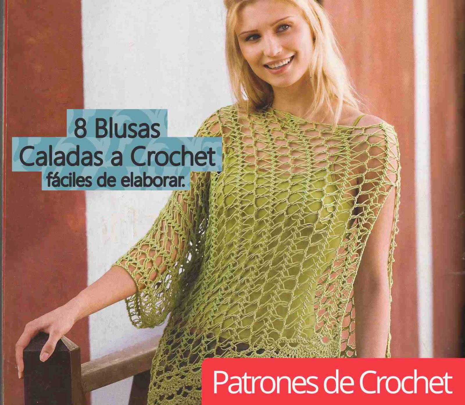 Blusas Caladas a Crochet fáciles de elaborar ~ CTejidas [Crochet y