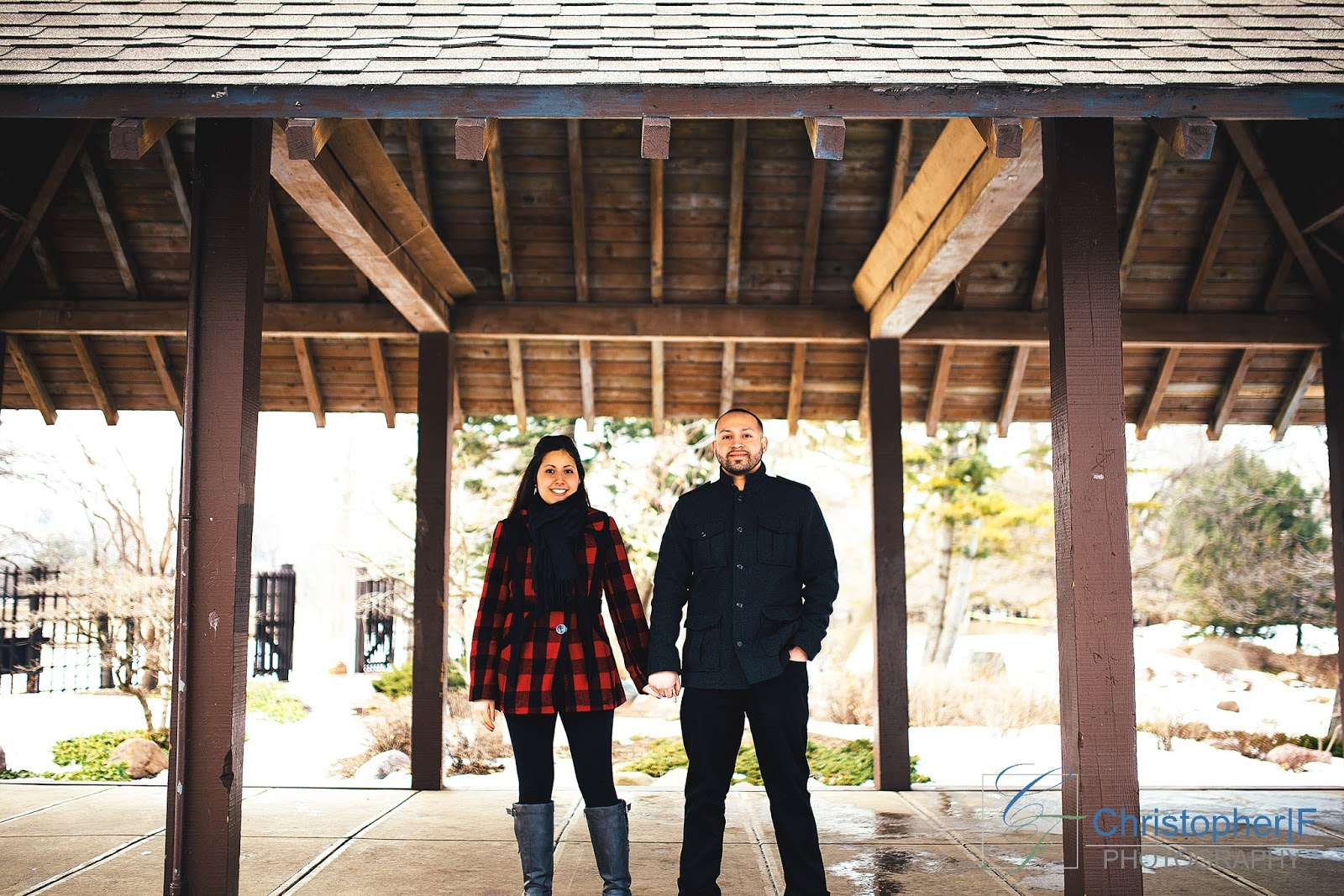 Osaka Garden Engagement Photo