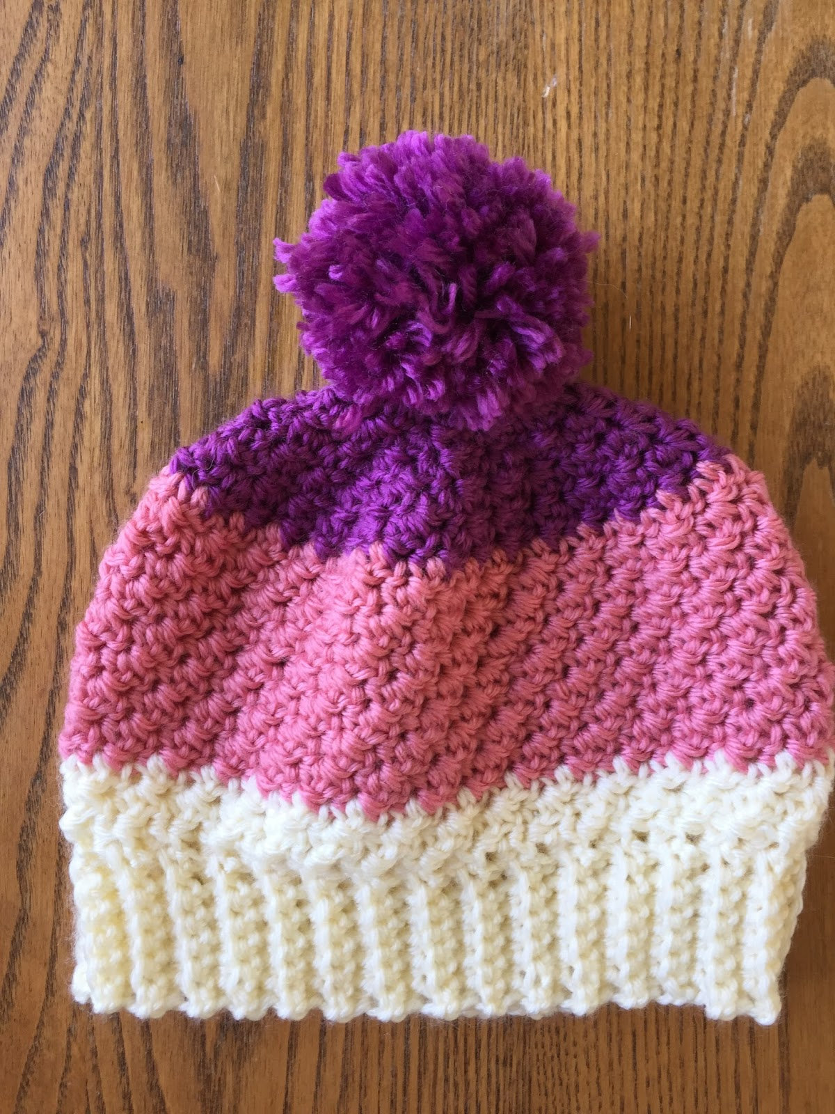Skein And Hook Free Crochet Pattern Greene Pom Pom Hat
