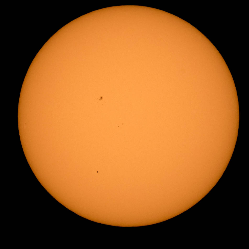 Mercury Solar Transit: First pictures from NASA