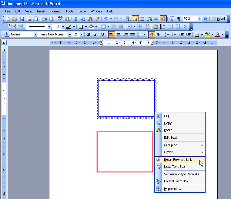 how to use text boxes in word