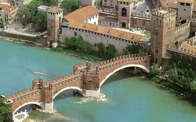 Castillo de Castelvecchio en Verona, Italia