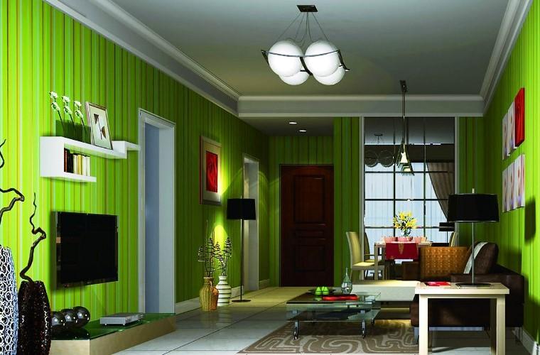Vertical Interior Design Furniture ~ Interior elegant design for green living room with