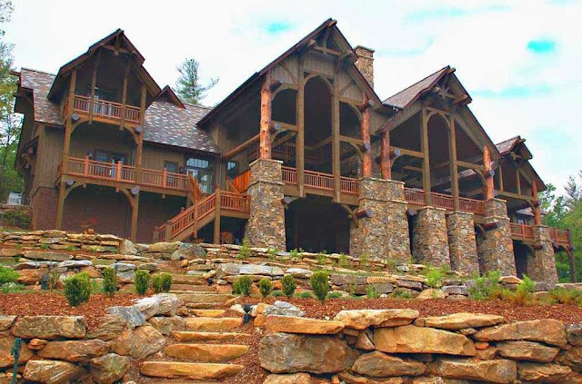 Luxury mountain house plans ayanahouse for Luxury mountain home floor plans