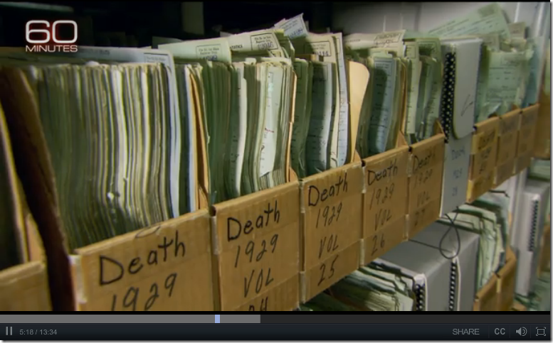 "Alabama death certificate ""volumes"" look like they have been disassembled and placed in boxes."