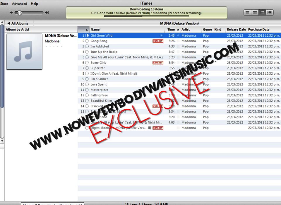 "Álbum ""MDNA"" MDNA+%28DELUXE+VERSION+PREORDER%29+Tracklist"