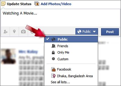 Sharing facebook status to twitter