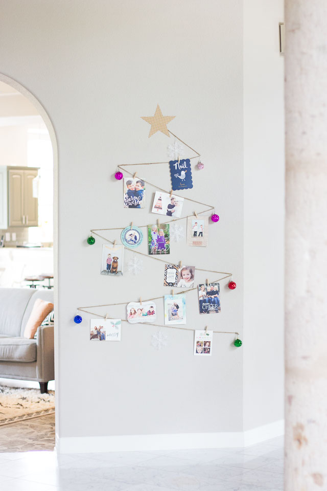 Simple Diy Holiday Card Display Design Improvised