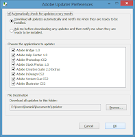 Windows 8. Free Adobe CS2 installation - Optional. Set updater preferences
