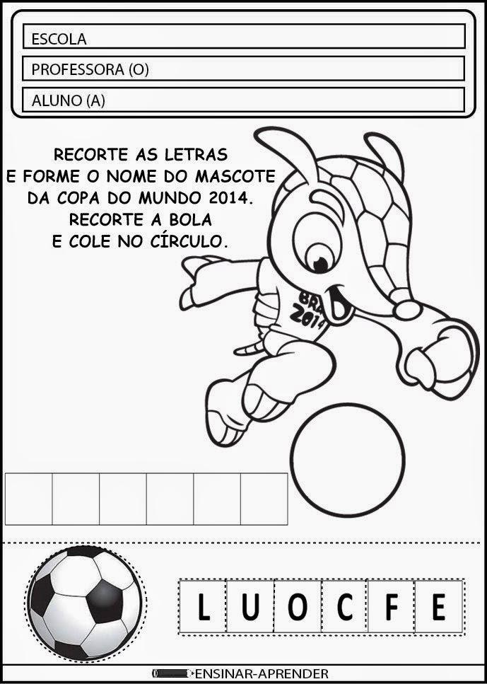 ATIVIDADES DA COPA DO MUNDO 2014 PARA EDUCAÇÃO INFANTIL E ENSINO FUNDAMENTAL