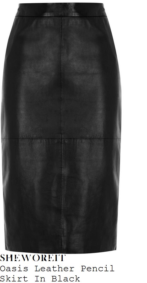 mollie-king-black-leather-pencil-skirt