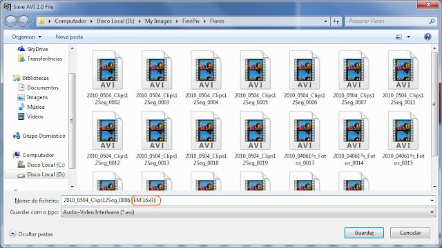 VirtualDub -  corte de video - passo 10 - mudar nome
