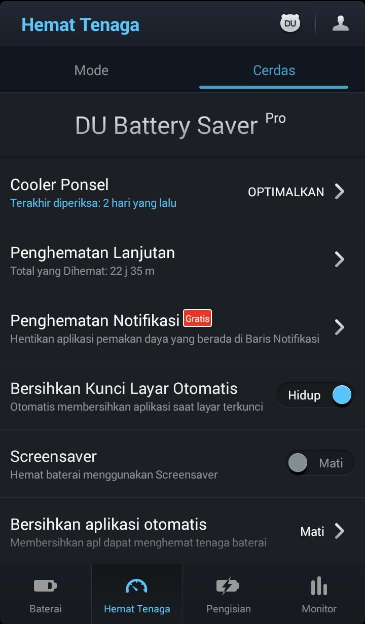 Hemat Baterai dengan DU Battery Saver Pro