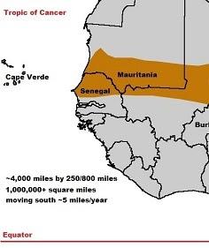 Sahel map.