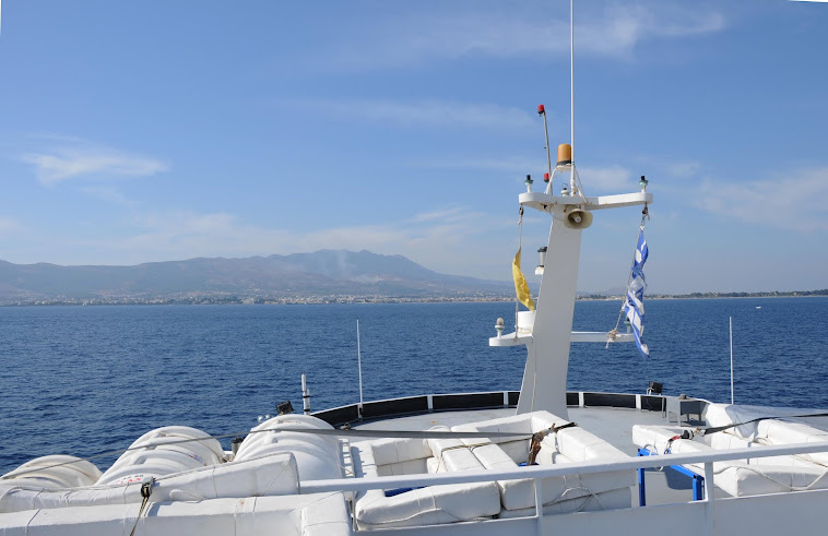 Approaching kos by ferry