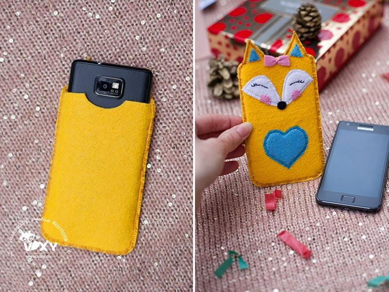 husa telefon handmade, husa smartphine, husa fetru vulpita, husa telefon personalizata, husa vulpe, husa personalizata iphone