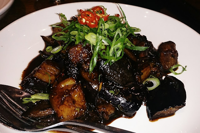 The Brass Coq, modern Vietnamese, stir fried eggplant