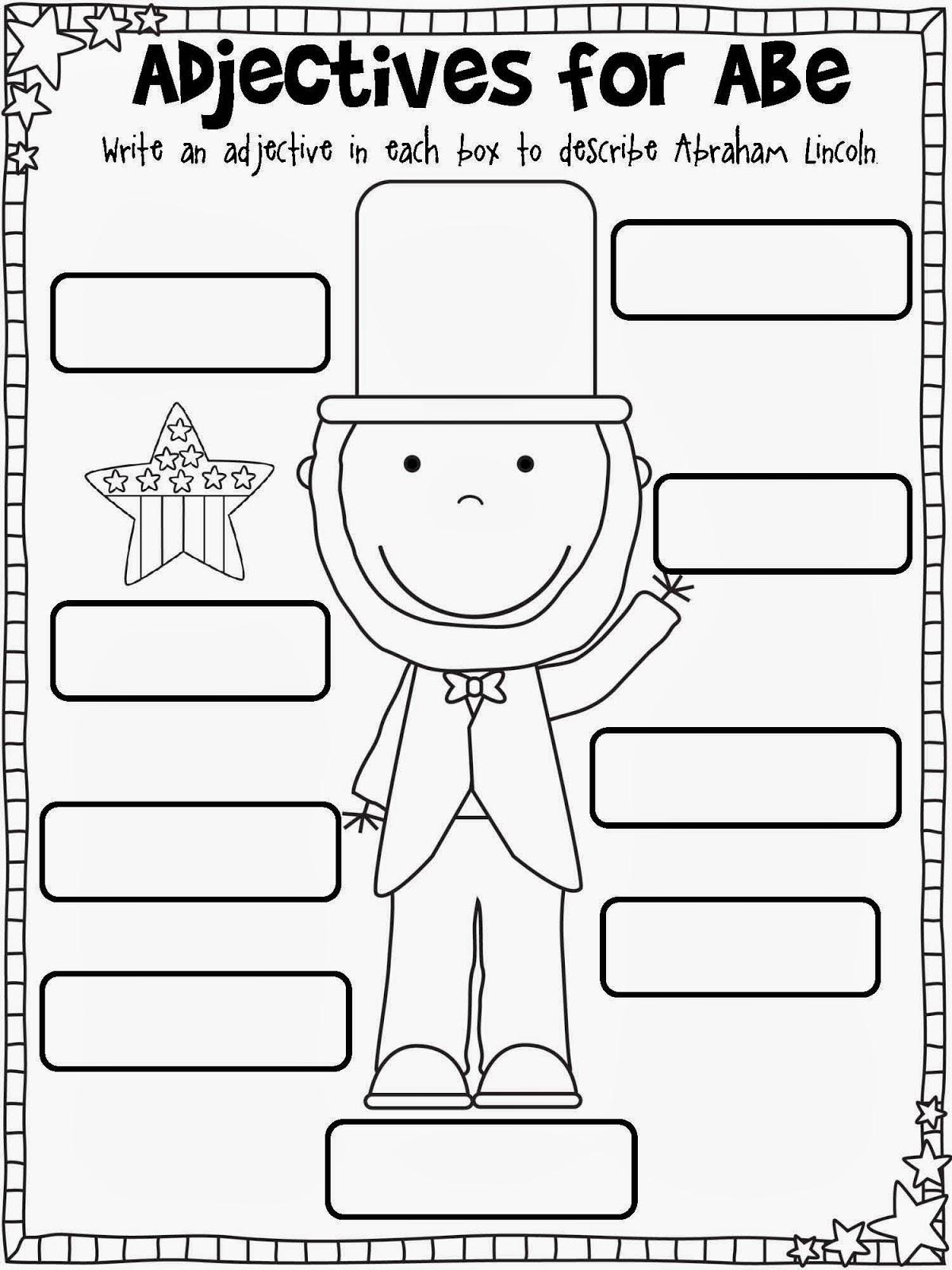 Abe lincoln worksheets for kindergarten