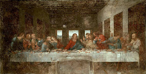 The Last Supper - Before Restoration (1498) By Leonardo Da Vinci