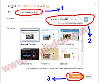 Panduan langkah demi langkah membuat blogger