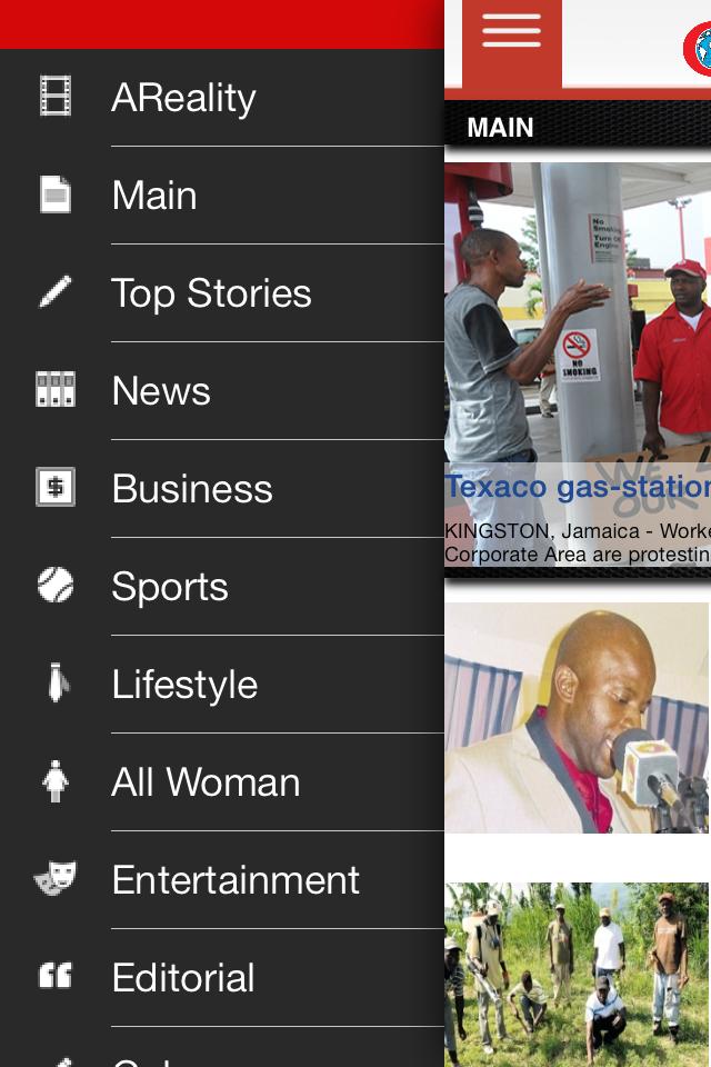 Screen grab of Jamaica Observer App