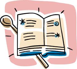 livre de recettes de cuisine (dessin)
