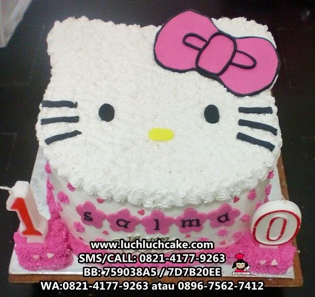 Kue Tart Hello Kitty Pink Cute Daerah Surabaya - Sidoarjo