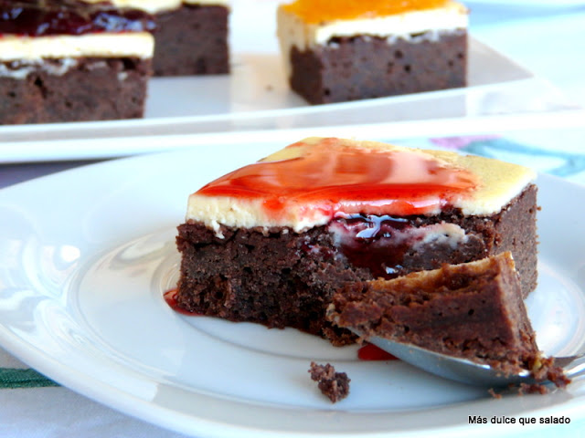 Chocolate Cheesecake Brownie.