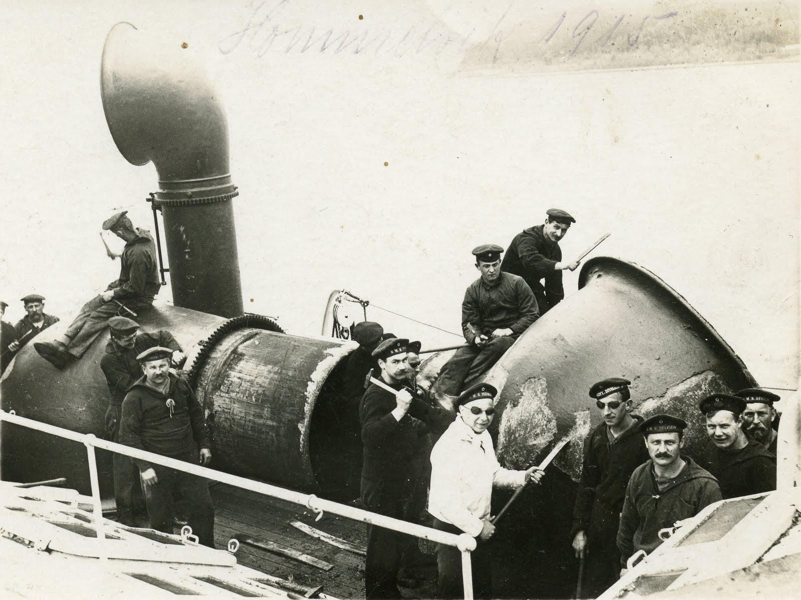Photograph of S.M. Berlin and the crew