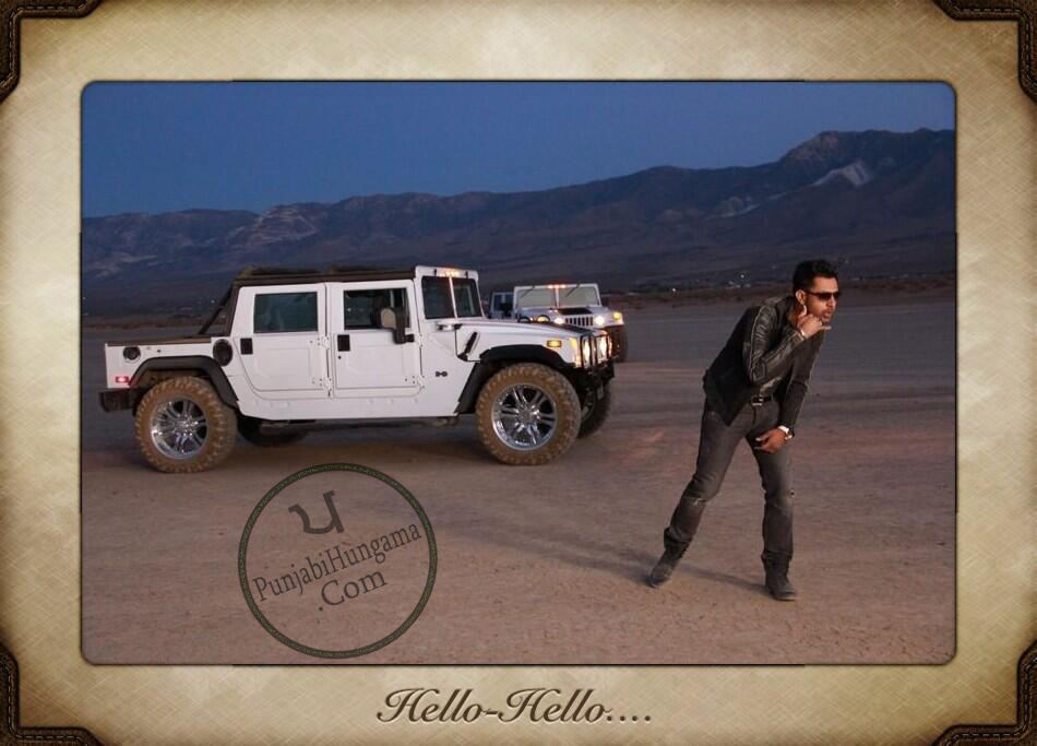 Gippy Grewal Photos HELLO HELLO Song Shooting in Las Vegas