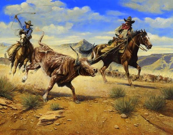 cuadros-caballos-oleos-vaqueros