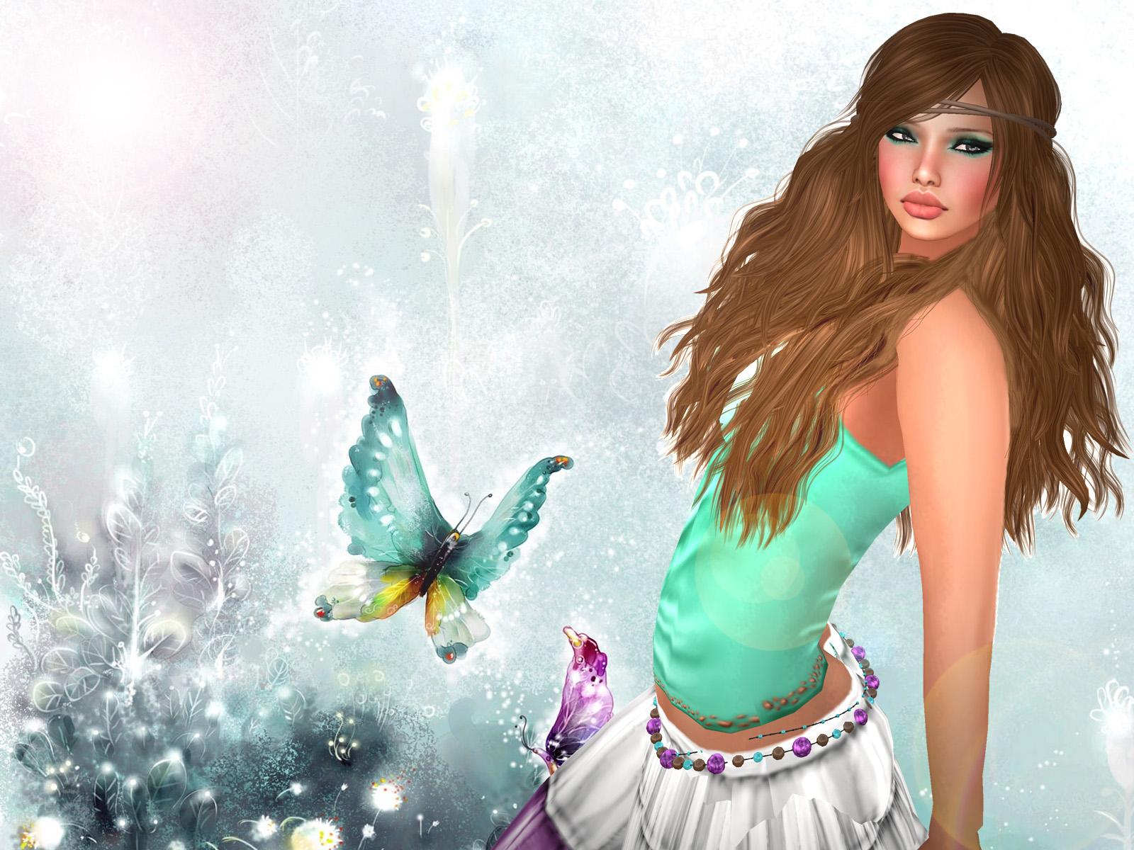 little girl butterfly wallpapers - photo #13