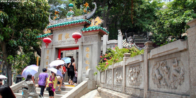 Entrada del templo A-ma de Macao