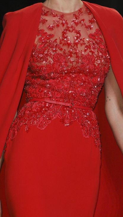 Christmas dresses, red dresses, Elie Saab, red, sparkles