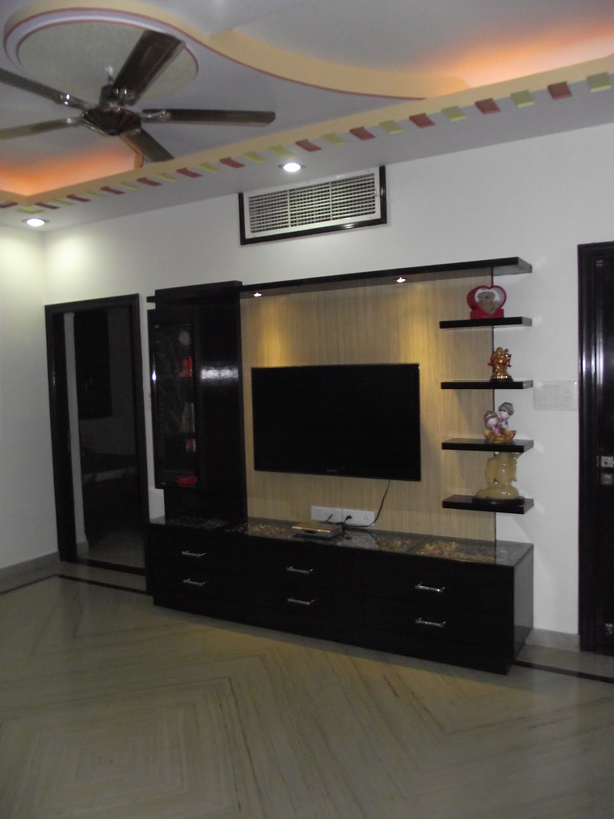 Lcd tv cabinet designs ideas interior design photos lcd unit for Lcd unit design for living room