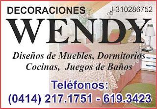 DECORACIONES WENDY, C.A. en Paginas Amarillas tu guia Comercial
