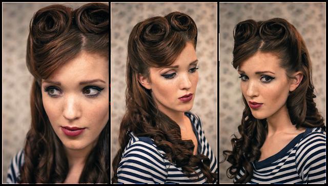 Причёска в стиле 40-х