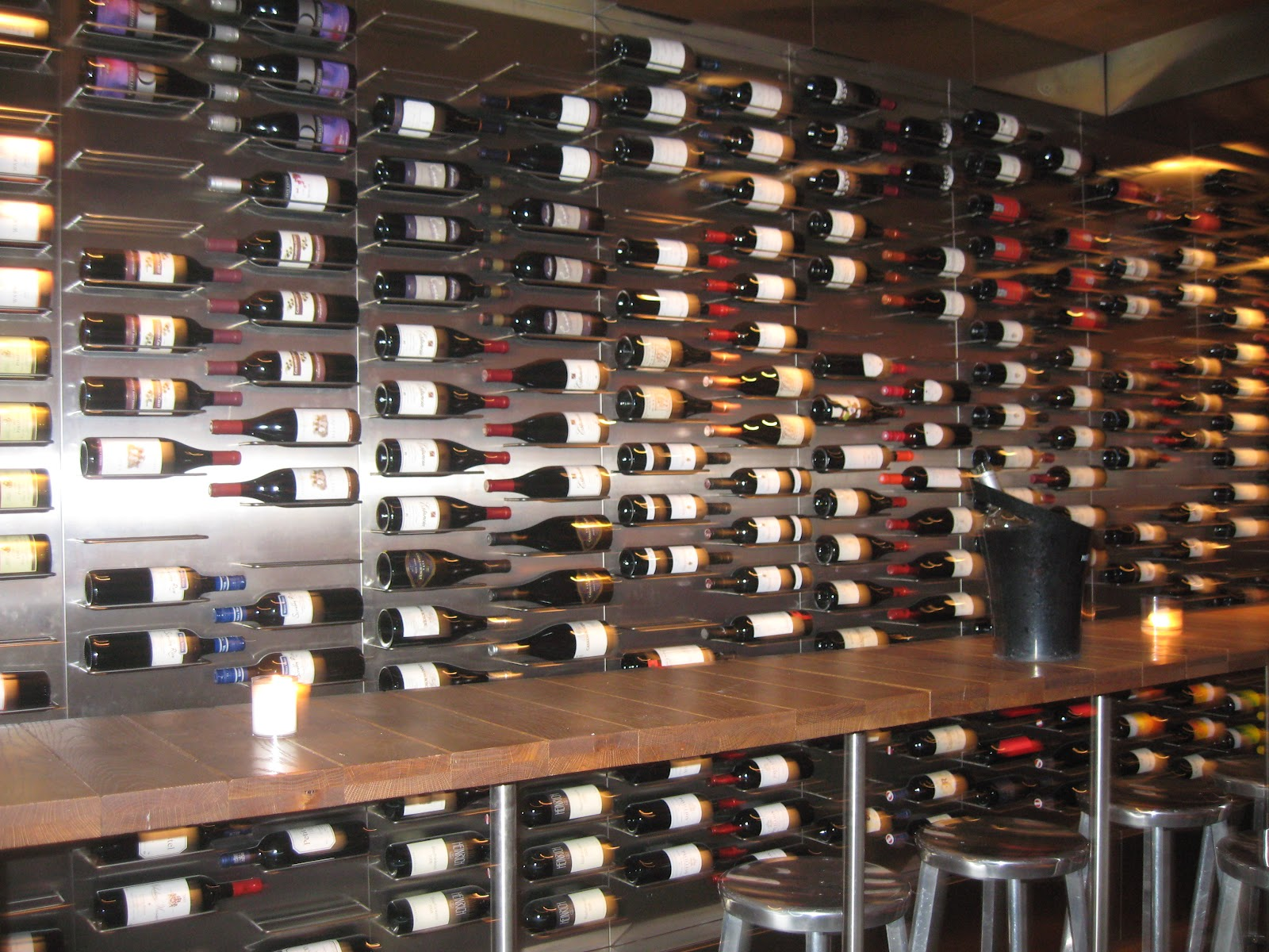 "Wine Bar Designs Wall"" at a chic wine bar i"