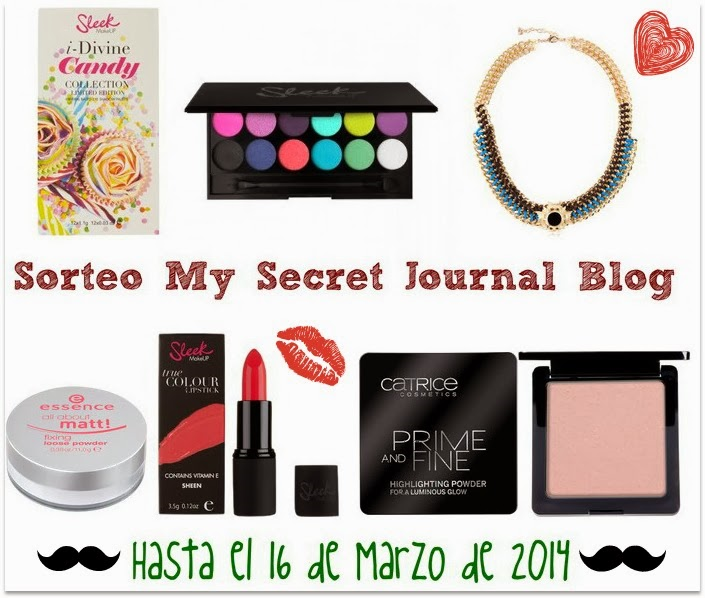 2º Sorteo My Secret Journal Blog