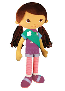 This Friendship Doll makes a lovely gift for your Daisy or Brownie Scout. There is a blonde haired version as well.