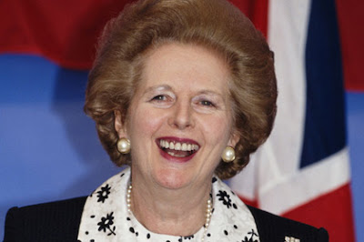 The late former British Prime Minister Margaret Thatcher